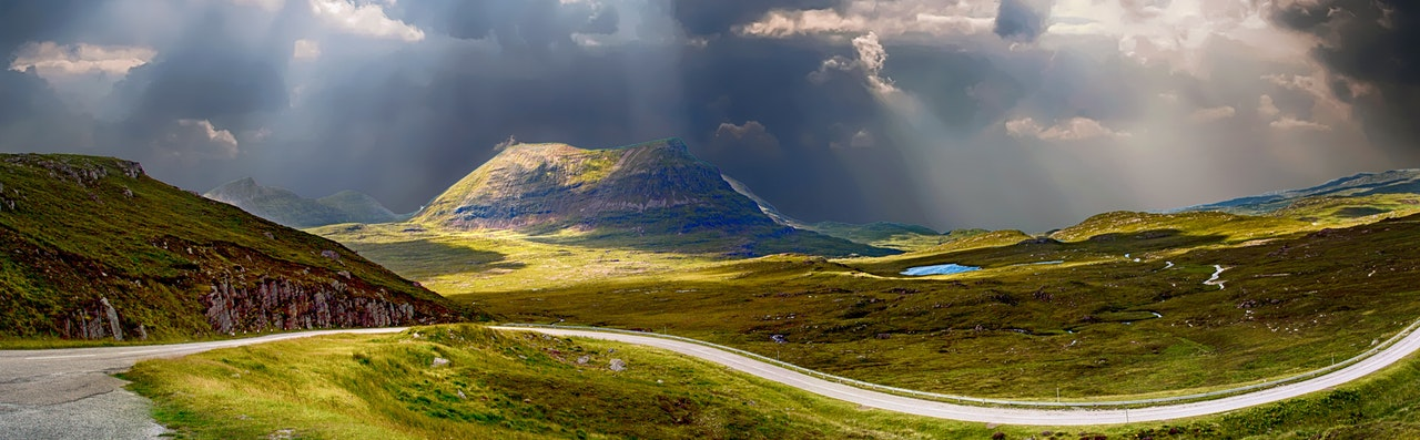 Pathway through rolling hills